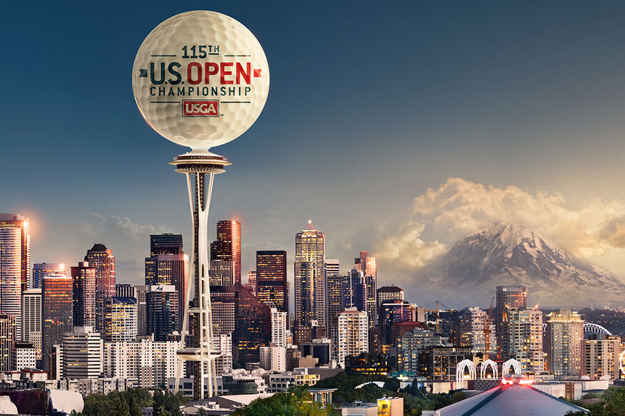 Fox Sports | US Open Space Needle Finishing