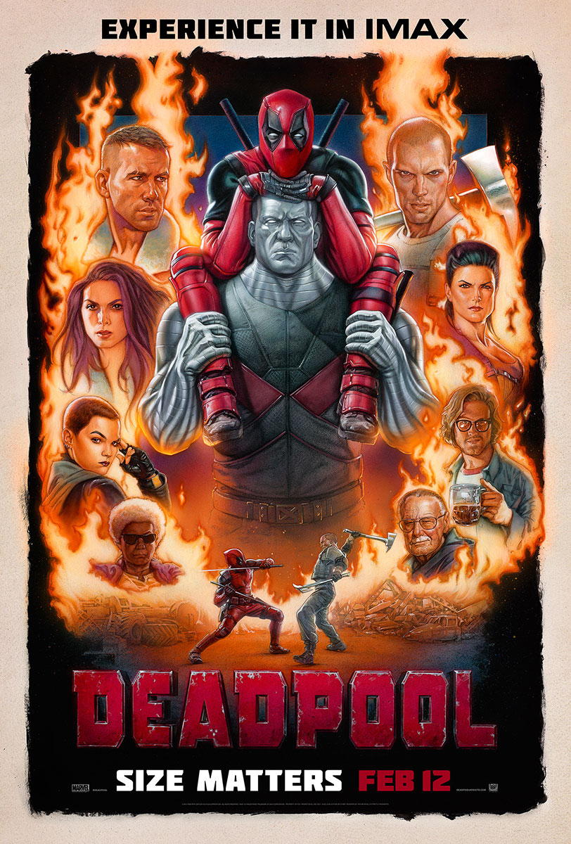 Deadpool | One-Sheet Design, Finishing & Illustration
