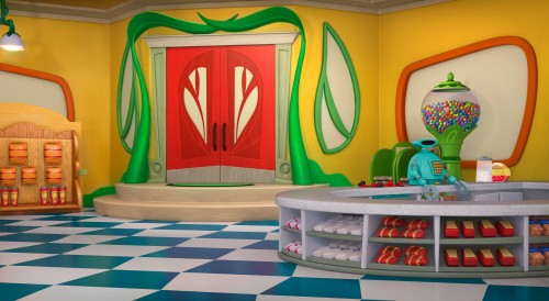 Veggie Tales Background Finishing