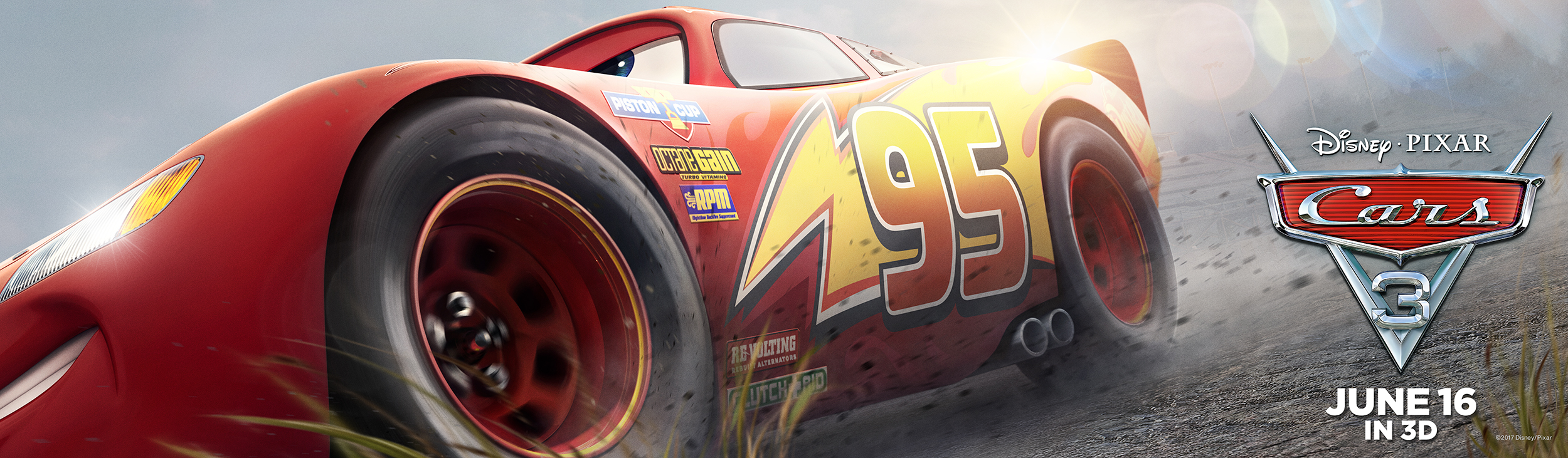 Cars 3 | McQueen Billboard Concept, Finishing & Illustration