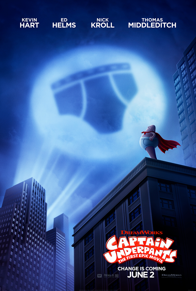Captain Underpants | One Sheet Finishing & Illustration