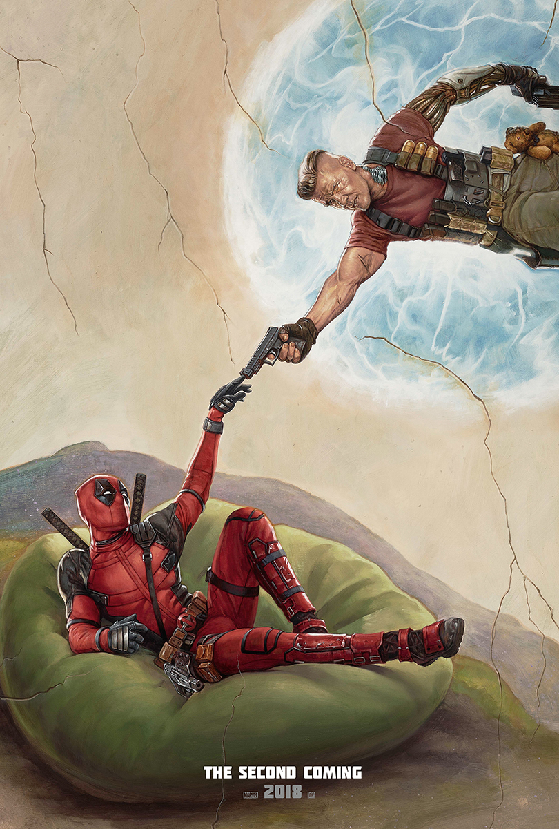 Deadpool 2 | Sistine One Sheet Concept, Finishing & Illustration