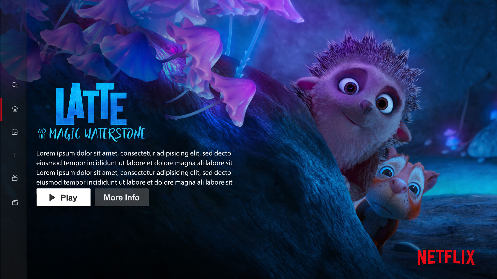 Latte and the Magic Waterstone | Netflix Billboard Concept, Finishing & Illustration