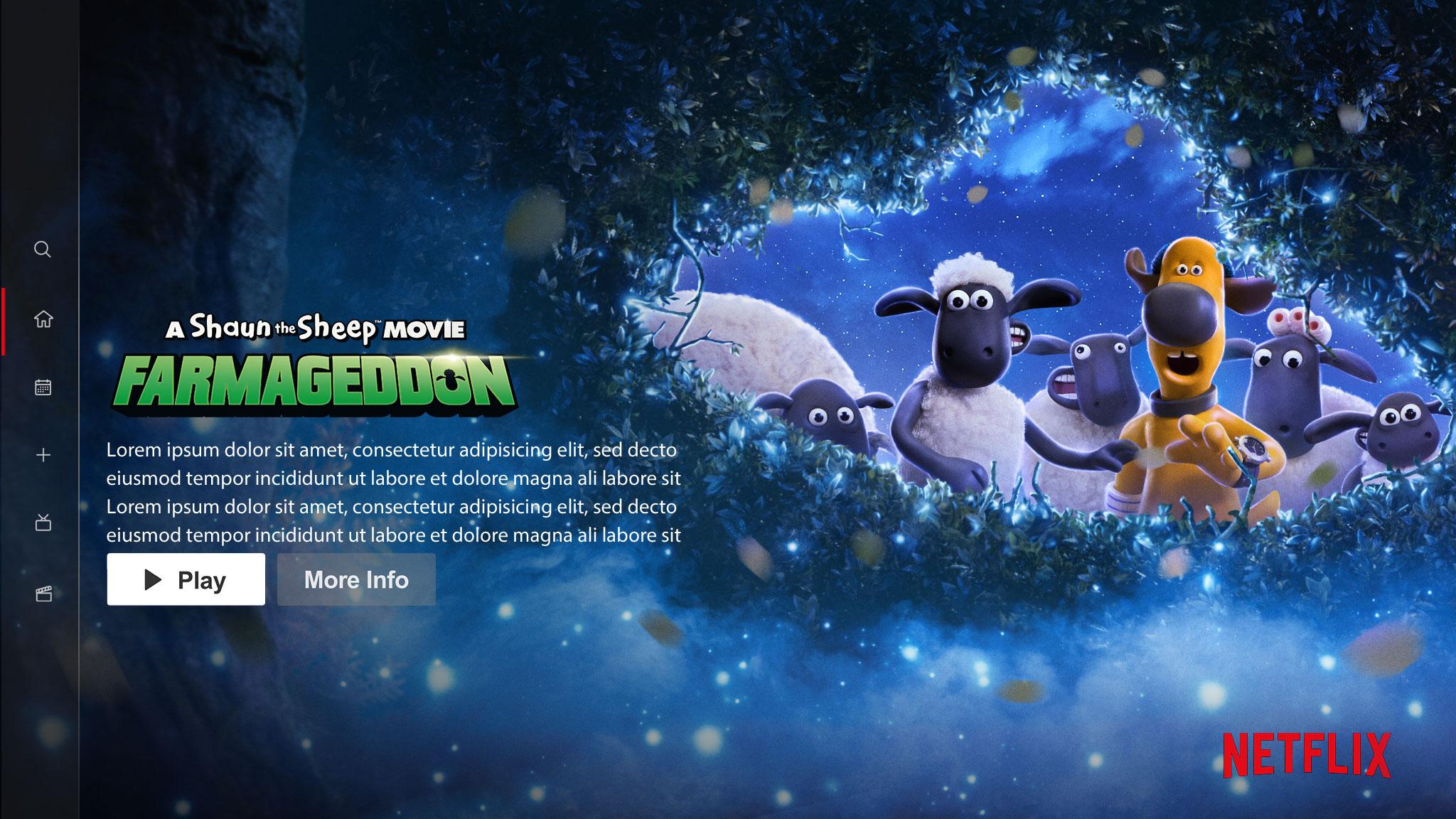 A Shaun the Sheep Movie: Farmageddon | Netflix Billboard Concept, Finishing & Illustration