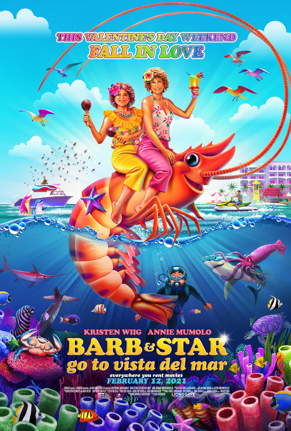 Barb and Star Go To Vista Del Mar | Poster Finishing & Illustration