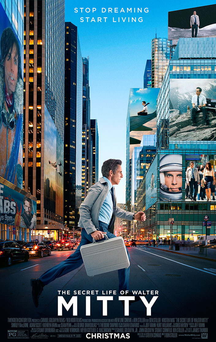The Secret Life of Walter Mitty | One Sheet