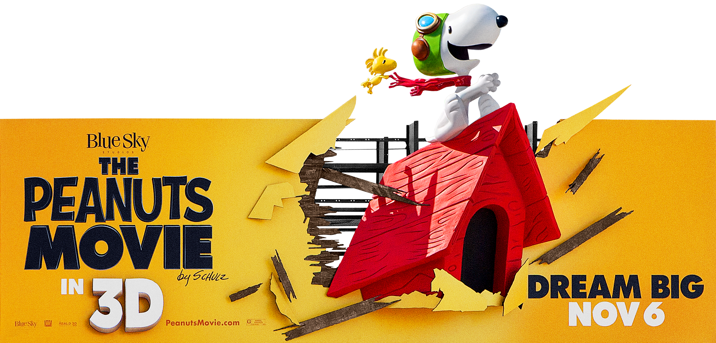 The Peanuts Movie | 3D Billboard Design, Finishing & Illustration