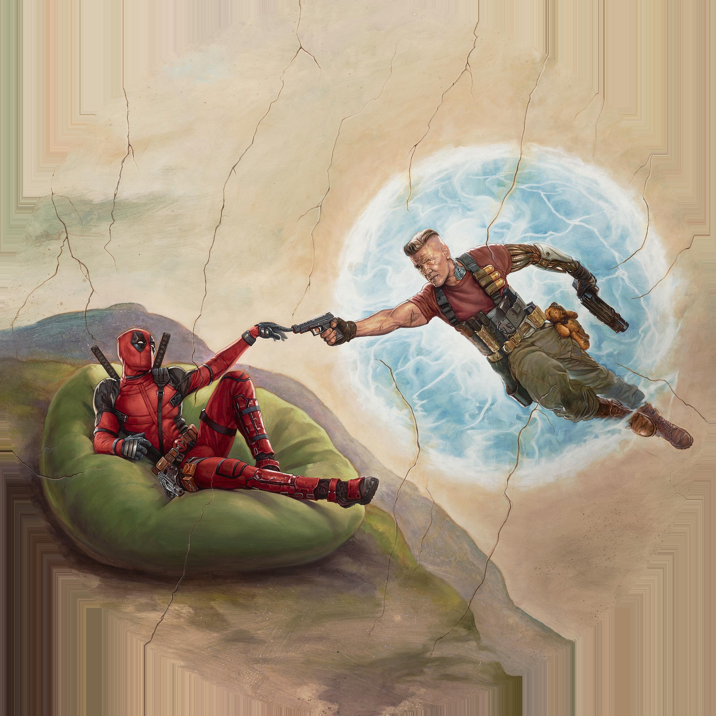Deadpool 2 | Sistine Ceiling Concept, Finishing & Illustration
