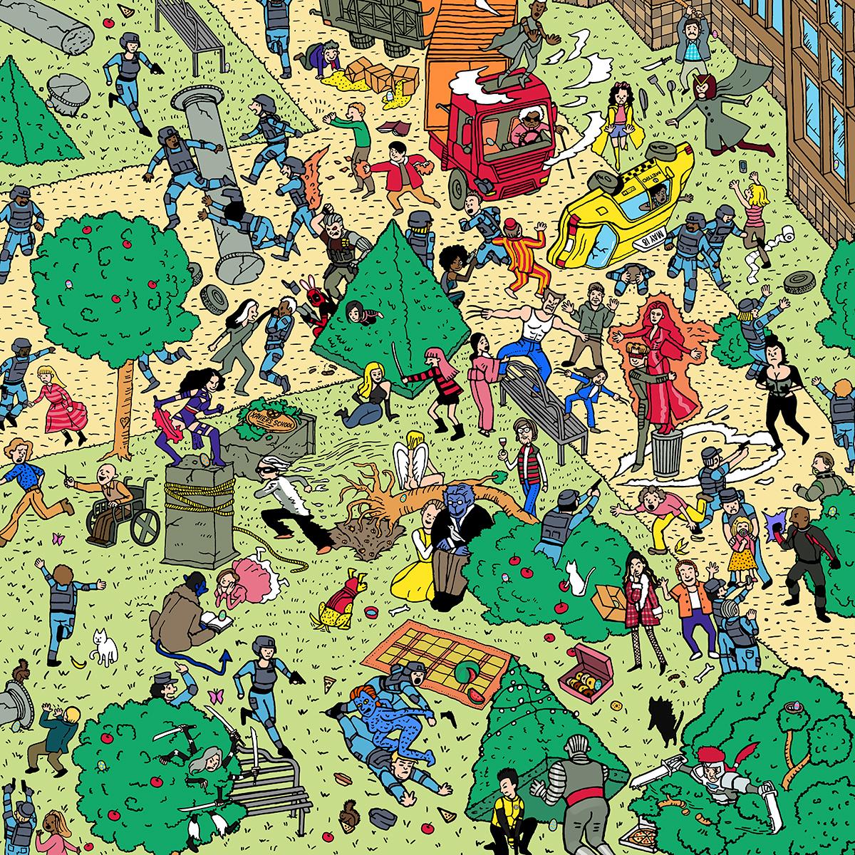 Deadpool 2 | Waldo Concept, Finishing & Illustration