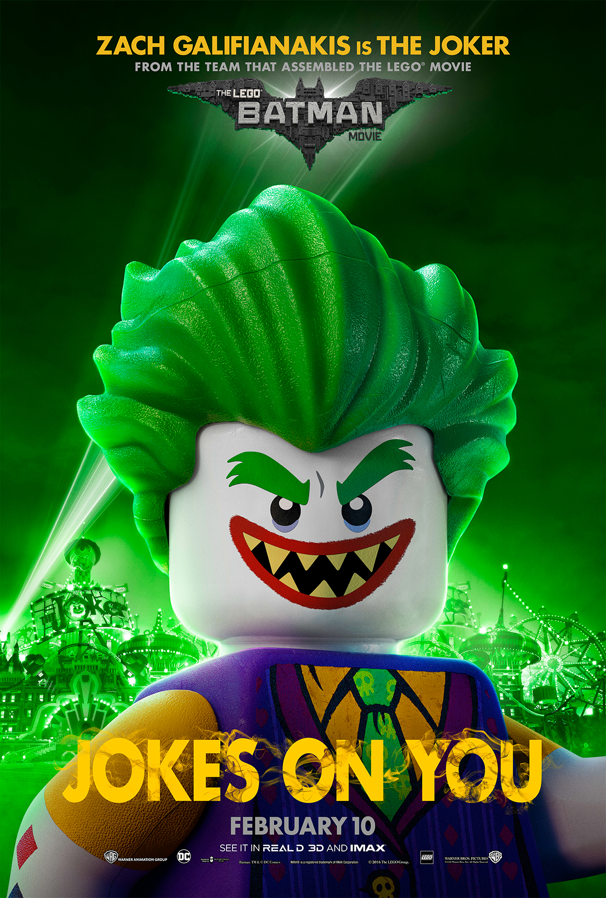 The Lego Batman Movie   Joker Bus Shelter Concept, Finishing & Illustration