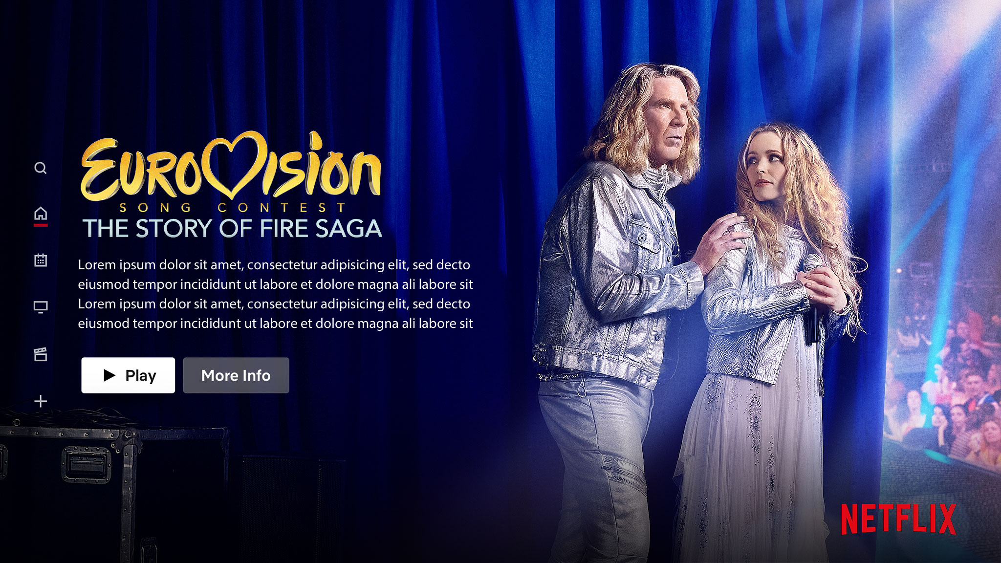 Eurovision | Netflix Billboard Concept, Finishing & Illustration