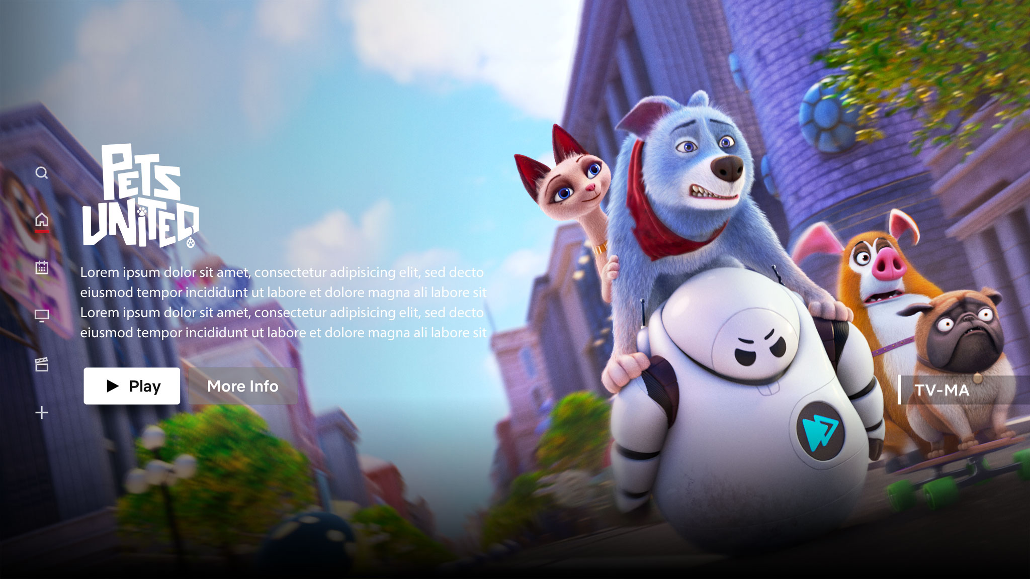 Pets United | Netflix Billboard Concept, Finishing & Illustration